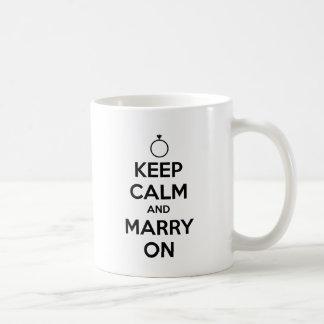 Gardez le calme et mariez dessus - mariage et mug