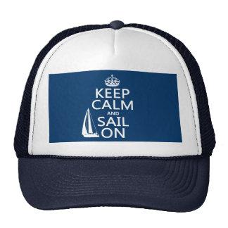 Gardez le calme et naviguez dessus - toutes les casquettes de camionneur