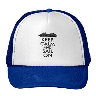 Gardez le calme et naviguez sur la coutume de casquette de camionneur