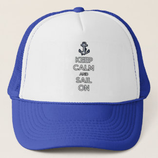 gardez le calme et naviguez sur le casquette