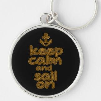 Gardez le calme et naviguez sur le style de noeud porte-clefs