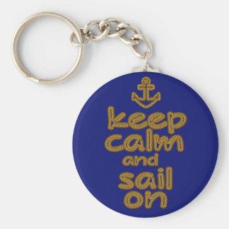 Gardez le calme et naviguez sur le style de noeud porte-clés