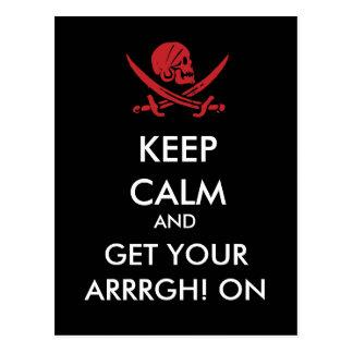 Gardez le calme et obtenez votre Arrrgh ! Sur la Carte Postale