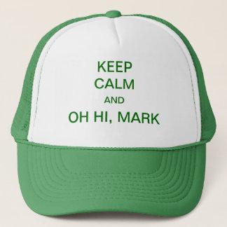 Gardez le calme et oh salut marque casquette
