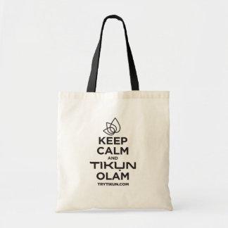 Gardez le calme et portez un sac fourre-tout