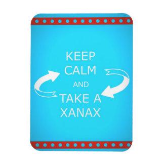gardez le calme et prenez un xanax.  Ou vice versa Magnets Rectangulaire