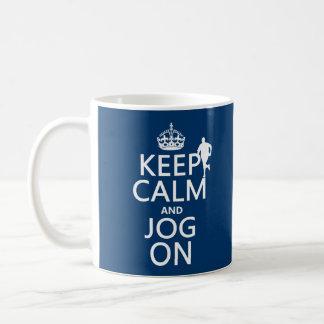 Gardez le calme et pulsez dessus mug