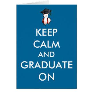 Gardez le calme et recevez un diplôme sur la carte