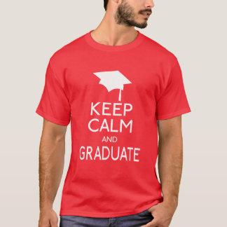 Gardez le calme et recevez un diplôme t-shirt