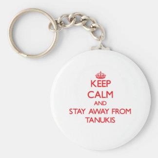 Gardez le calme et restez à partir de Tanukis Porte-clés