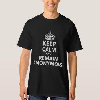 Gardez le calme et restez anonyme t-shirt