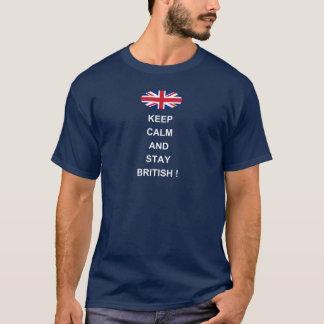 Gardez le calme et restez britannique t-shirt