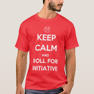 Gardez le calme et roulez pour l'initiative t-shirt