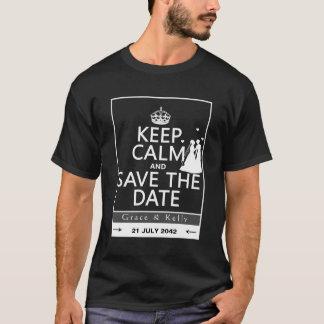 Gardez le calme et sauvez le mariage lesbien de t-shirt