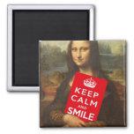 Gardez le calme et souriez aimants