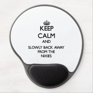 Gardez le calme et soutenez lentement à partir de tapis de souris en gel