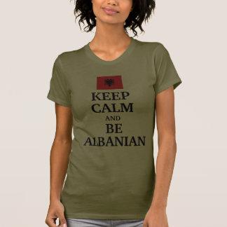 Gardez le calme et soyez albanais t-shirt