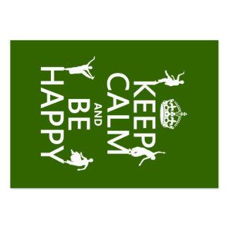 Gardez le calme et soyez heureux (la danse) (perso modèle de carte de visite