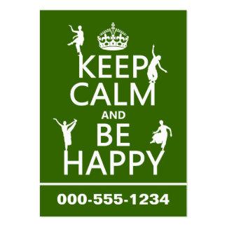 Gardez le calme et soyez heureux (la danse) (perso carte de visite grand format