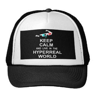 Gardez le calme et vivez dans le monde hyperreal casquette de camionneur
