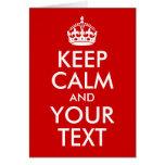 Gardez le calme et votre texte
