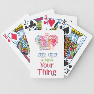 Gardez le calme font votre chose jeu de poker
