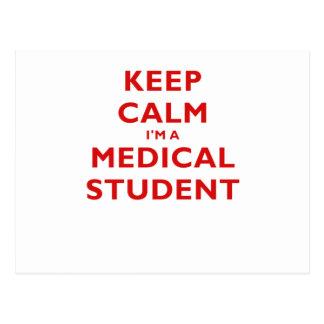 Gardez le calme Im un étudiant en médecine Cartes Postales