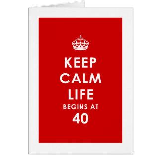 Gardez le calme, la vie commence à la carte 40
