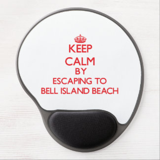 Gardez le calme par l évasion à la plage d île de tapis de souris en gel