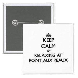 Gardez le calme par la détente au point Peaux aux. Badges Avec Agrafe