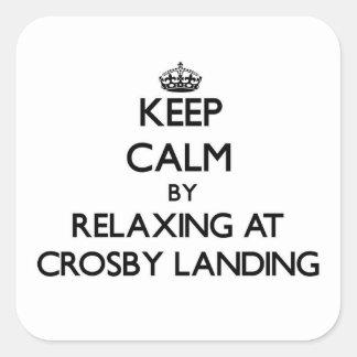 Gardez le calme par la détente chez Crosby Stickers Carrés
