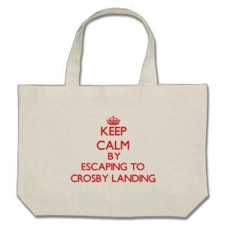 Gardez le calme par l'évasion à Crosby débarquant Sacs De Toile
