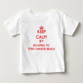 Gardez le calme par l'évasion à la plage Maine de T-shirt Pour Bébé