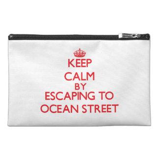 Gardez le calme par l'évasion à la rue la Floride  Trousse À Accessoires De Voyage