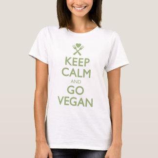 Gardez le calme pour aller végétalien t-shirt