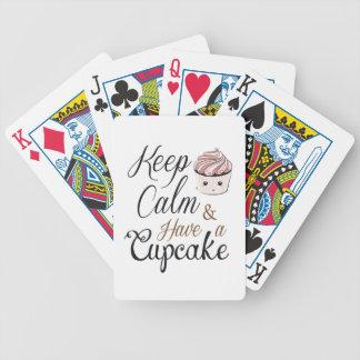 Gardez le calme pour avoir le petit gâteau Kawaii Jeu De Poker
