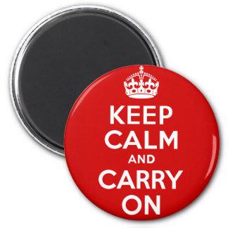 Gardez le calme pour continuer magnet rond 8 cm