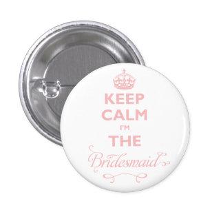 Gardez le calme que je suis l'étiquette mignonne badge rond 2,50 cm