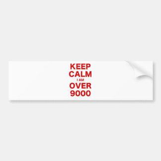Gardez le calme que je suis plus de 9000 autocollant pour voiture