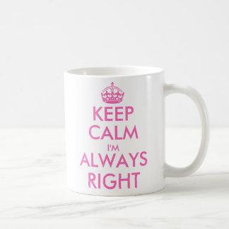 Gardez le calme que je suis toujours juste tasse