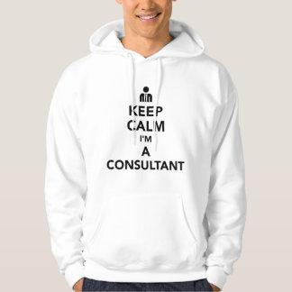 Gardez le calme que je suis un conseiller veste à capuche