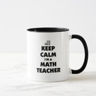 Gardez le calme que je suis un professeur de maths tasses