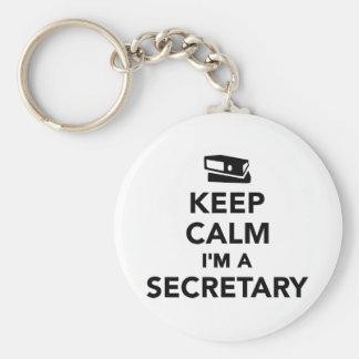 Gardez le calme que je suis un secrétaire porte-clé rond
