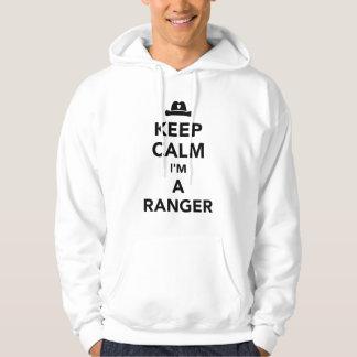 Gardez le calme que je suis une garde forestière veste à capuche