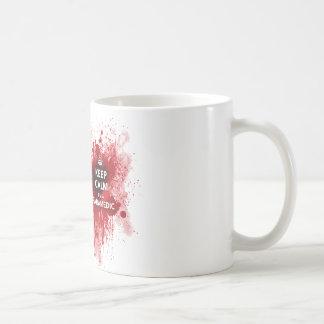 Gardez le calme que je suis une tasse de café