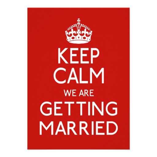 Gardez le calme que nous nous marions - mariage faire-parts