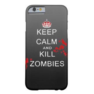 gardez le cas calme de téléphone de zombi de mise  coque iPhone 6 barely there