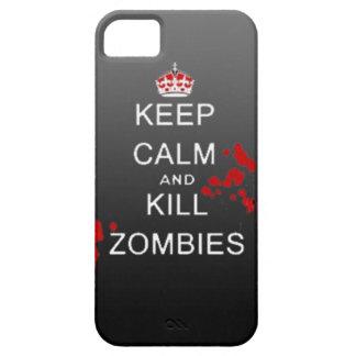 gardez le cas calme de téléphone de zombi de mise  étui iPhone 5