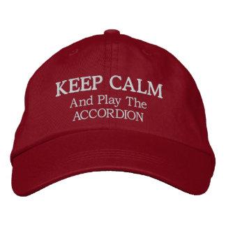 Gardez le casquette brodé par musique calme