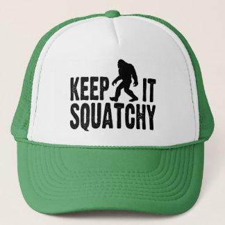 Gardez-le casquette de camionneur de Squatchy